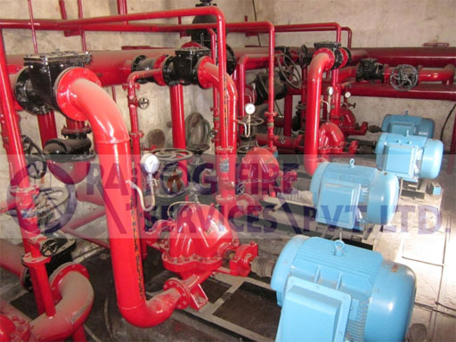 Deluge System For Water Curtain Pump Panel Hydrant Riser